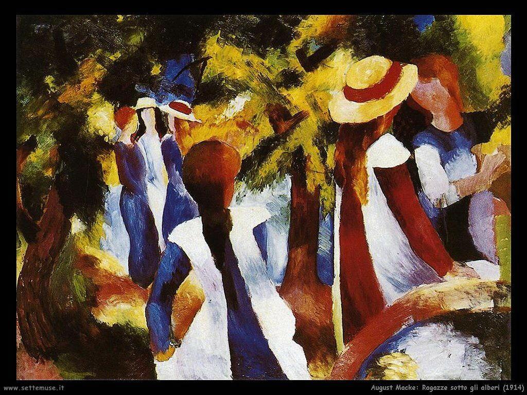 august_macke_ragazze_sotto_gli_alberi_1914