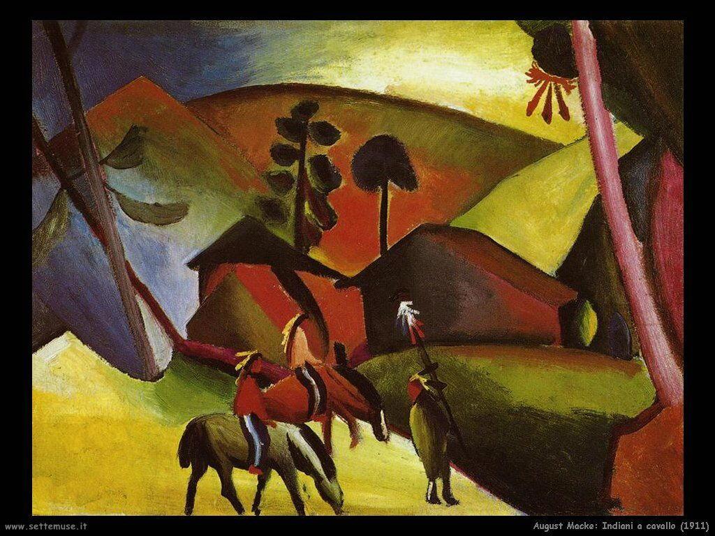 august_macke_indiani_a_cavallo_1911