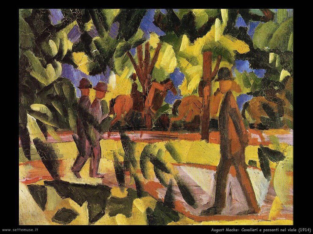 august_macke_cavalieri_e_passanti_nel_viale_1914
