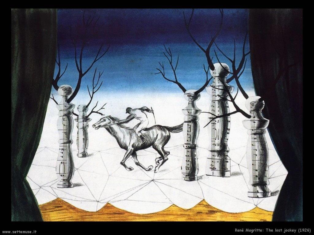 rene_magritte Il fantino perduto (1926)