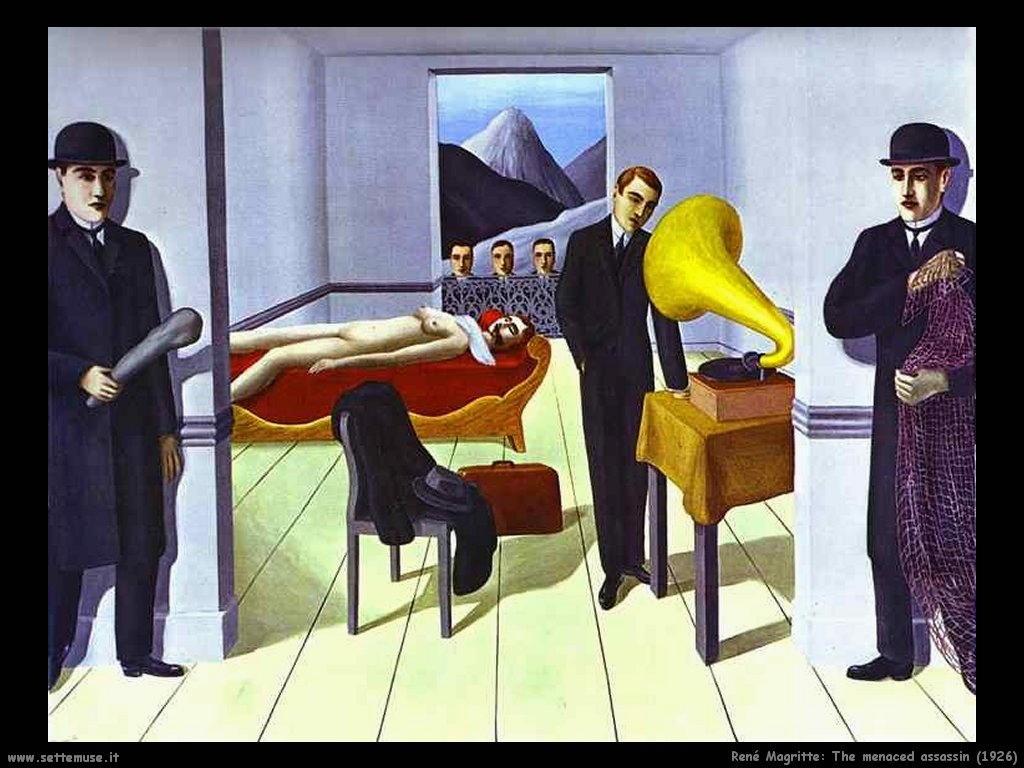 rene_magritte_L'assassino minacciato (1926)
