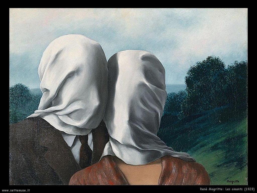 rene_magritte Gli amanti (1928)