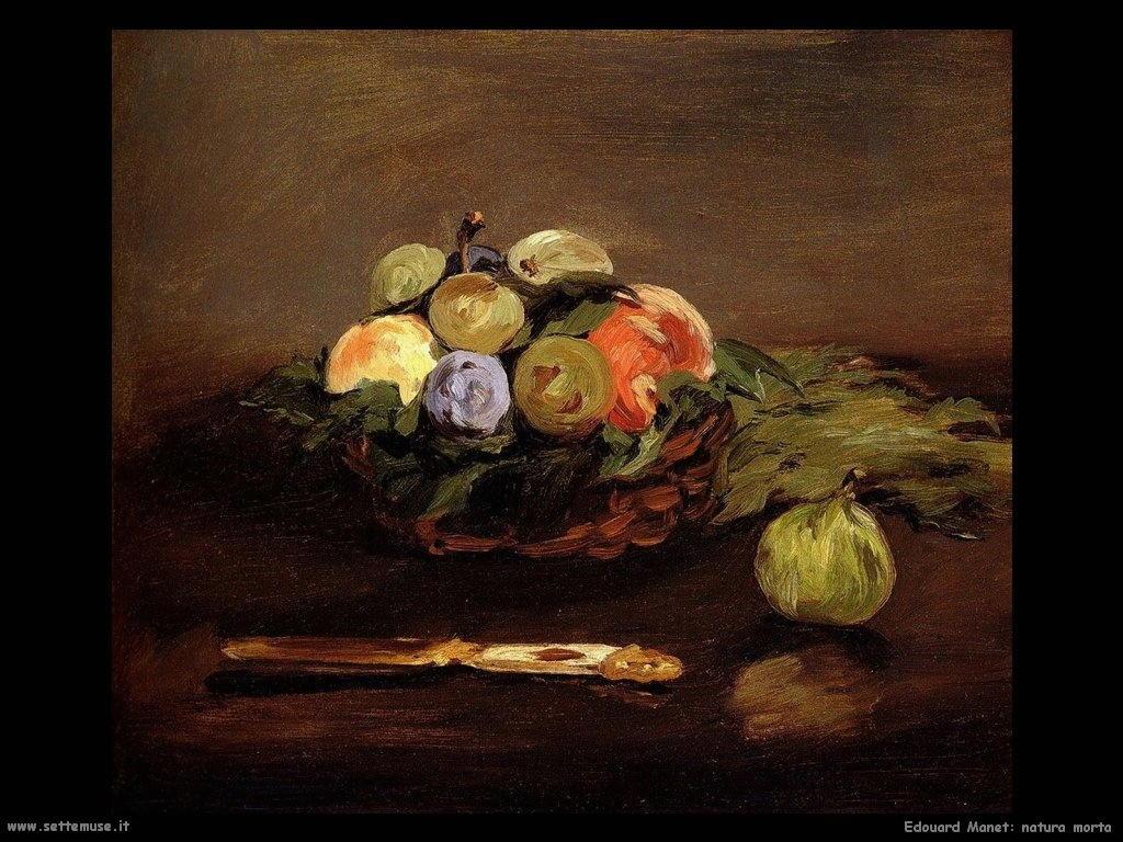Edouard Manet natura morta con frutta