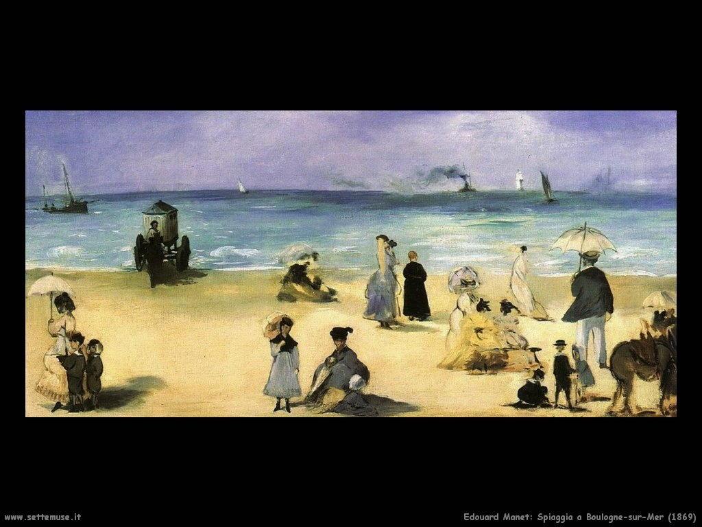 Edouard Manet _spiaggia_a_boulogne_sur_mer_1869