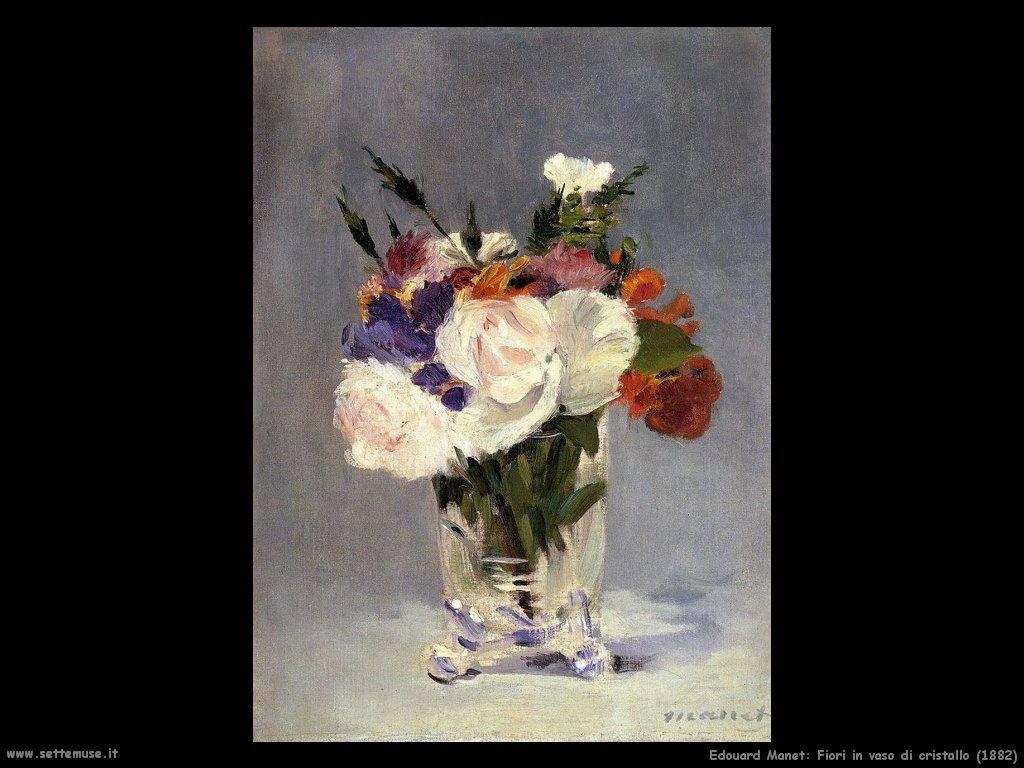 Edouard Manet _fiori_in_vaso_di_cristallo_1882