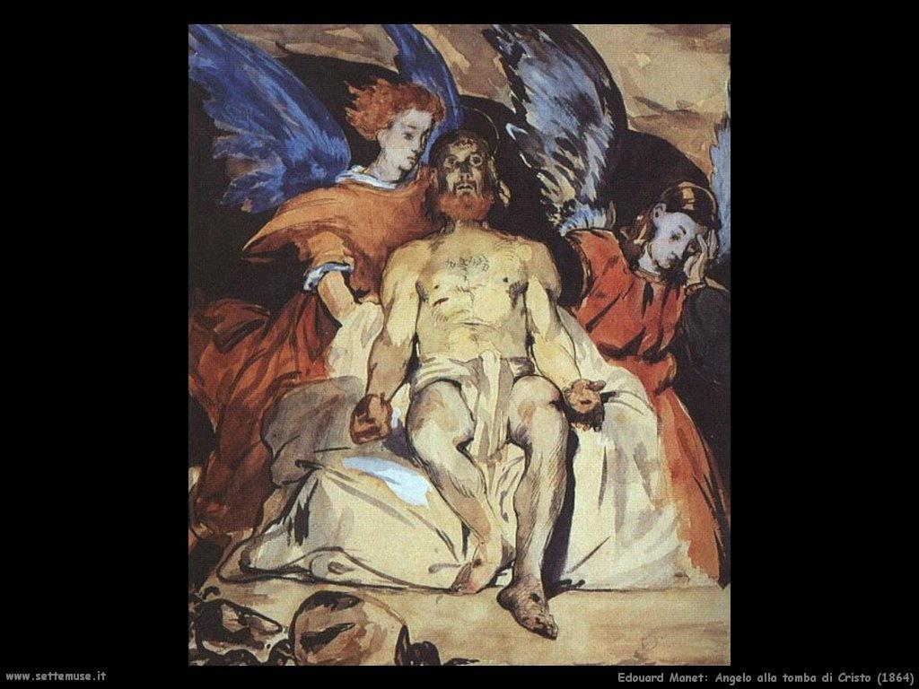 Edouard Manet _angelo_alla_tomba_di_cristo_1864