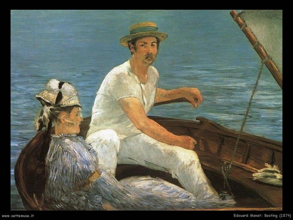 Edouard Manet _boating_1874