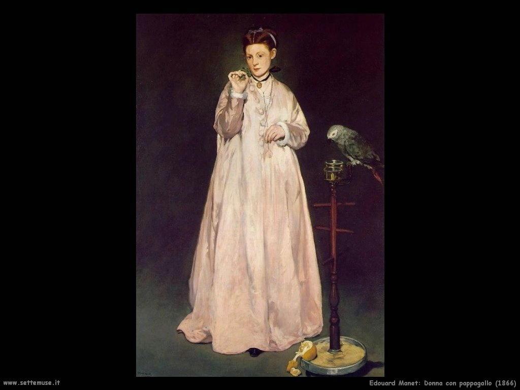 Edouard Manet_donna_con_pappagallo_1866