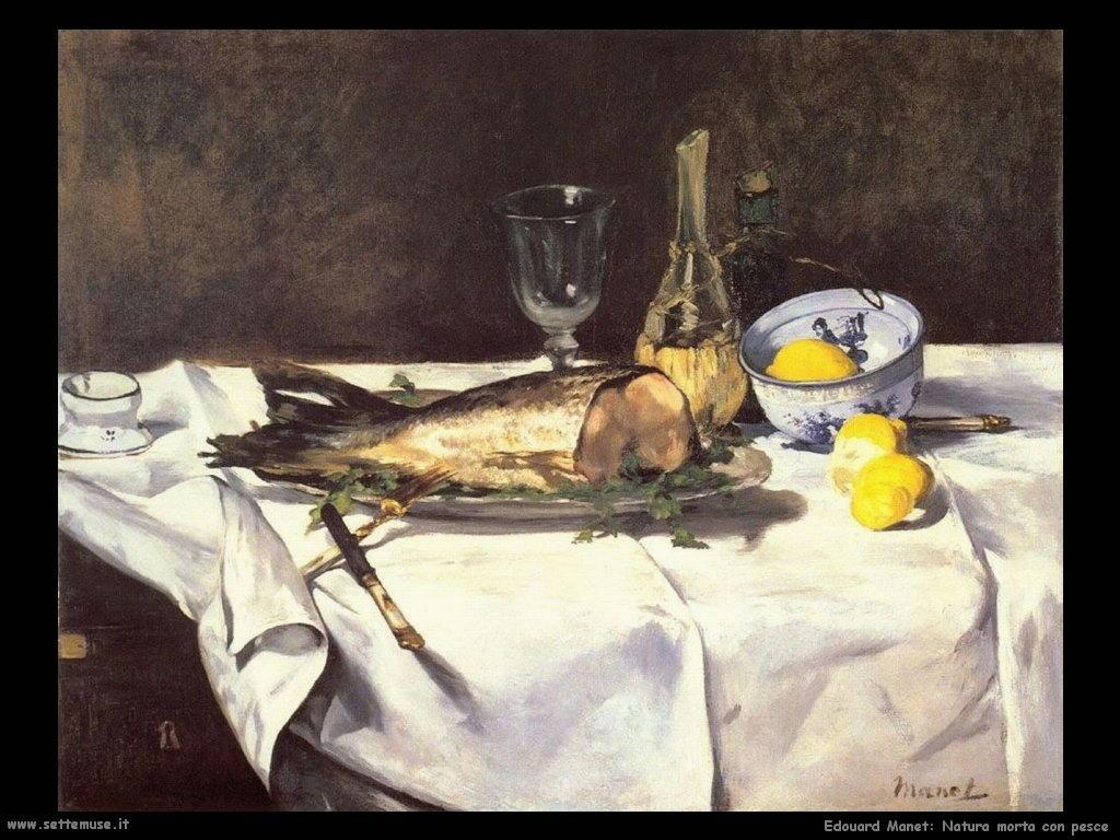 Edouard Manet _natura_morta_con_pesce