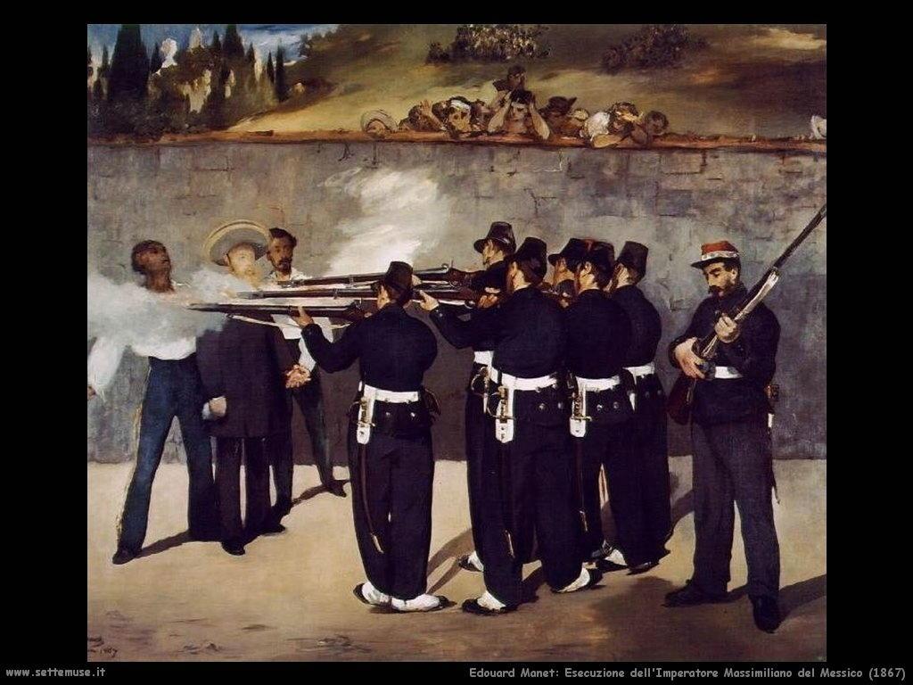 Edouard Manet _esecuzione_imperatore_massimiliano_messico_1867