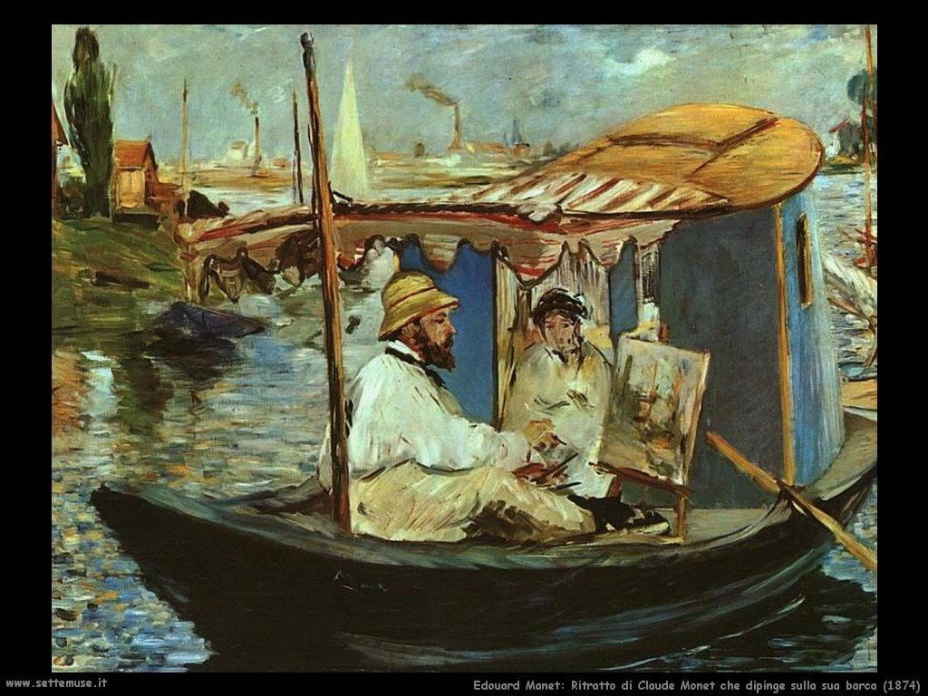 Edouard Manet_claude_monet_dipinge_in_barca_1874