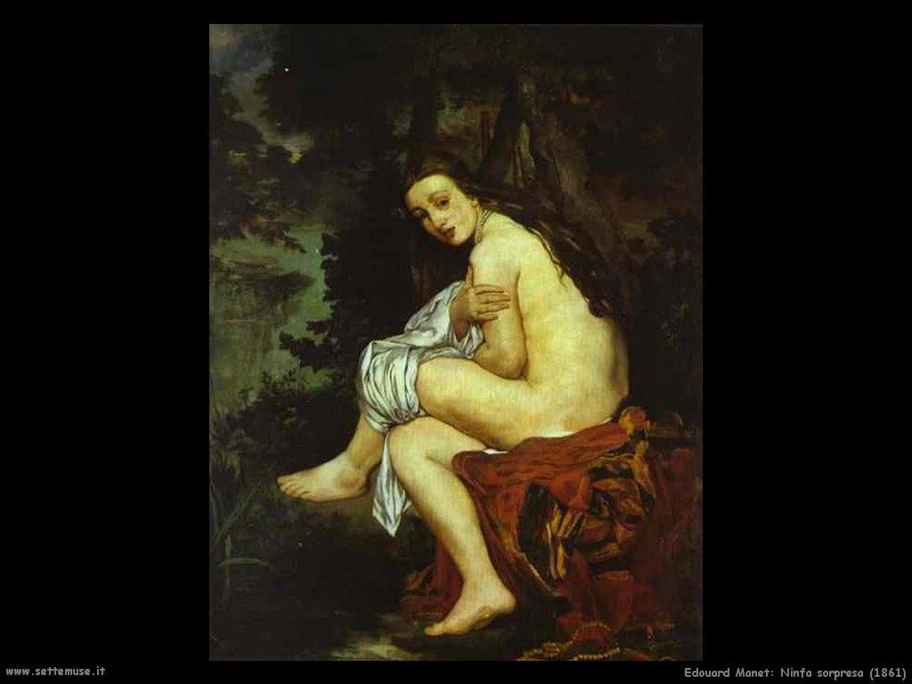 Edouard Manet _ninfa_sorpresa_1861