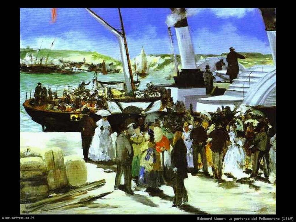 Edouard Manet _la_partenza_del_folkenstone_1869