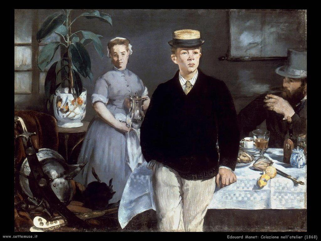 Descrizione dipinto di Manet Colazione nell atelier