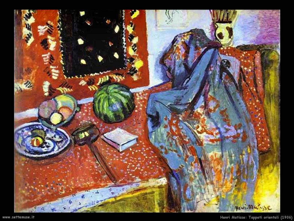 Henri matisse pittore opere quadri 1 - Tappeti orientali ...