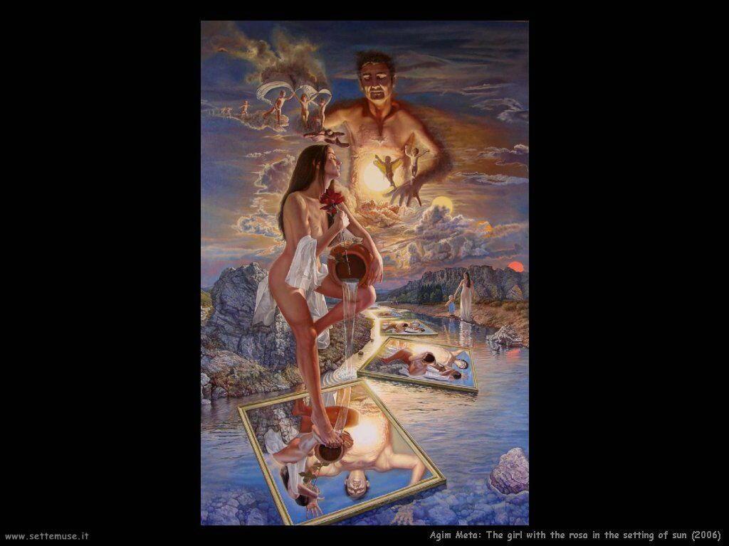 agim_meta La ragazza con la rosa nella cornice di sole (2006)