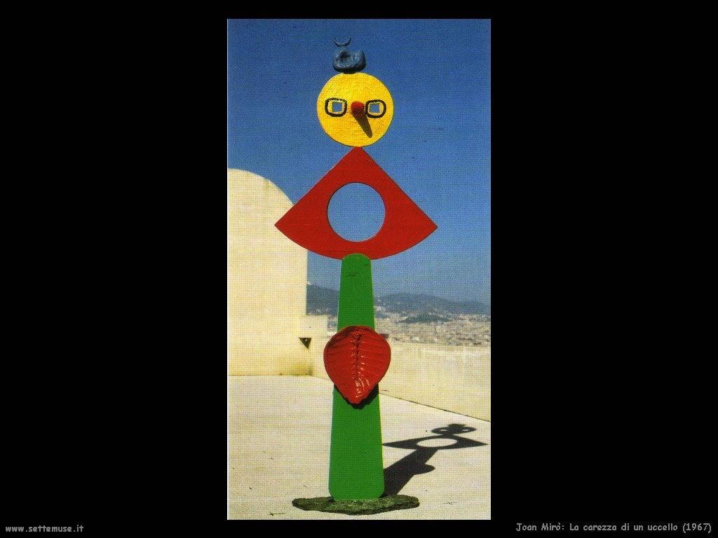 1967_joan_miro_102_la_carezza_di_un_uccello