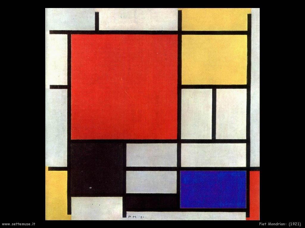 Piet Mondrian_composizione_1921