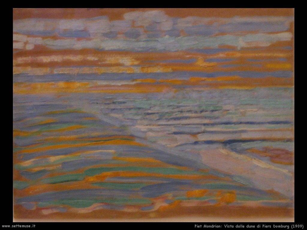 Piet Mondrian_vista_dalle_dune_Piers_Domburg_1909
