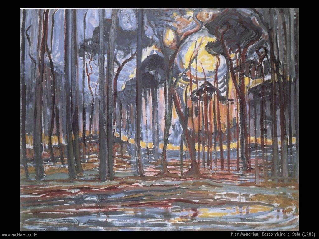 Piet Mondrian_bosco_vicino_a_Oele_1908