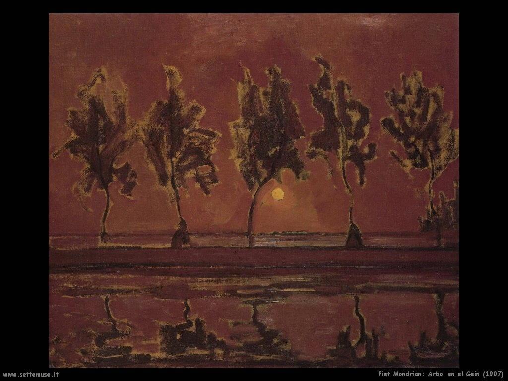 Piet Mondrian_Arbol_en_el_Gein_1907