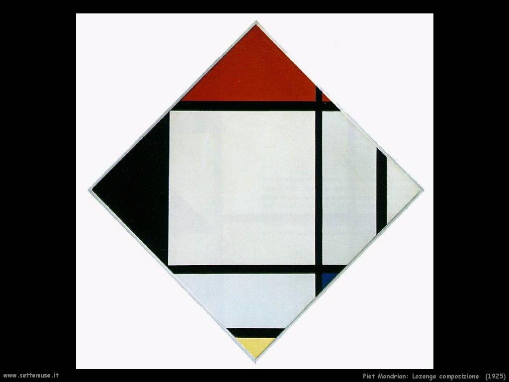 Piet Mondrian_Lozenge_Composizione_1925