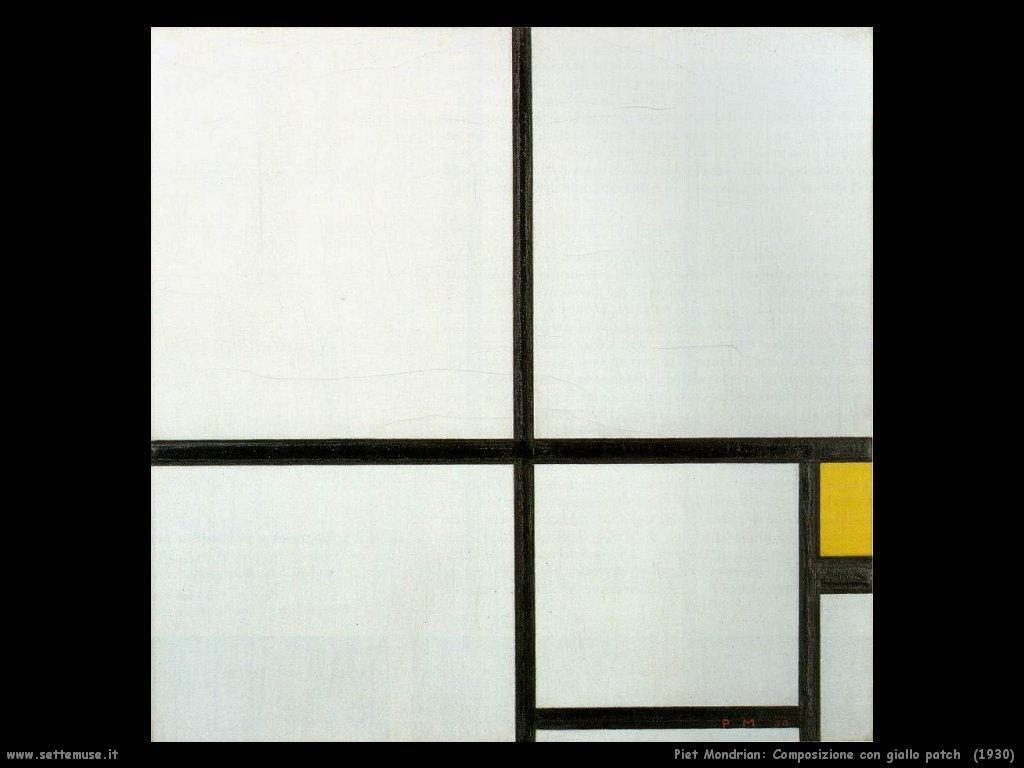 Piet Mondrian_Composizione_con_giallo_Patch_1930