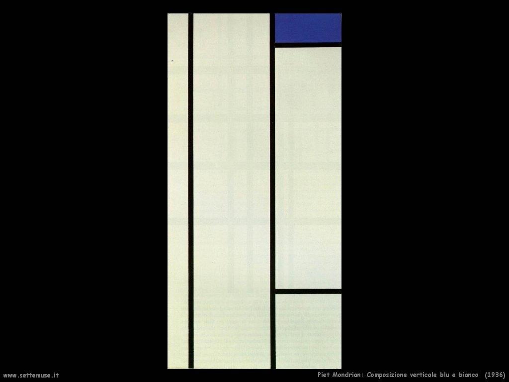 Piet Mondrian_composizione_verticale_blu_e_bianco_1936