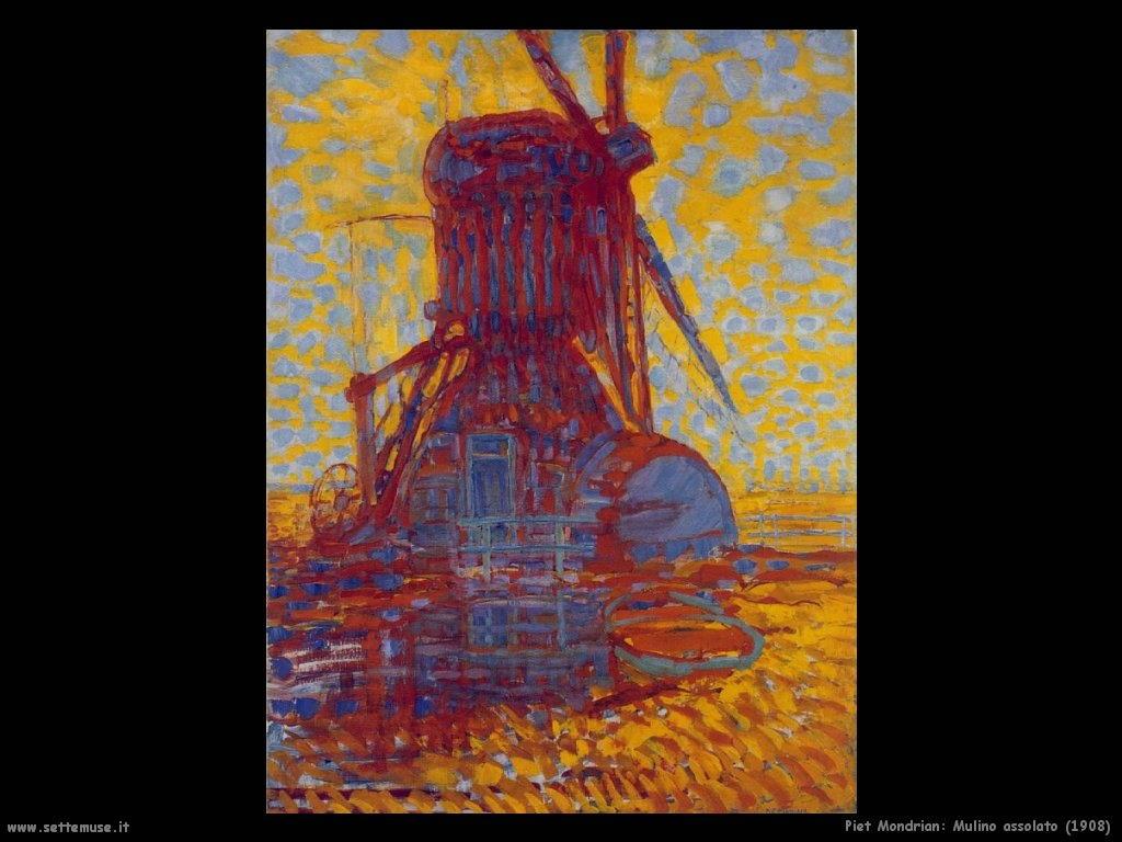 Piet Mondrian_mulino_assolato_1908