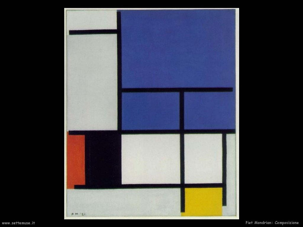Piet Mondrian_composizione