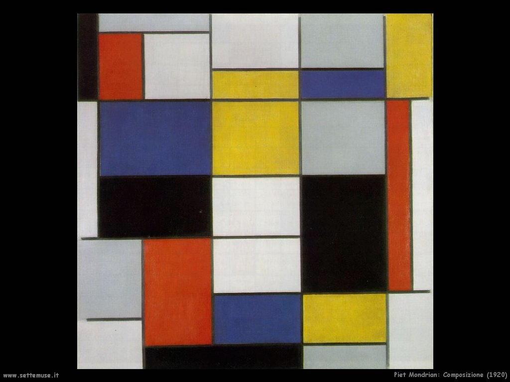 Piet Mondrian_composizione_1920