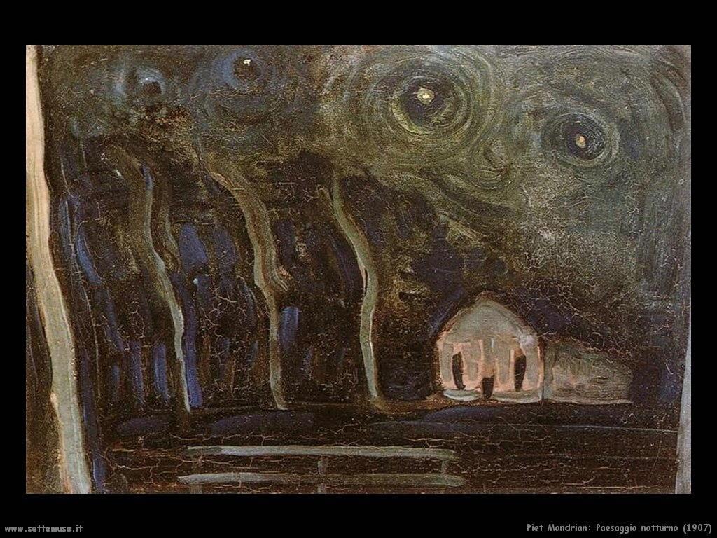 Piet Mondrian_paesaggio_notturno_ 1907