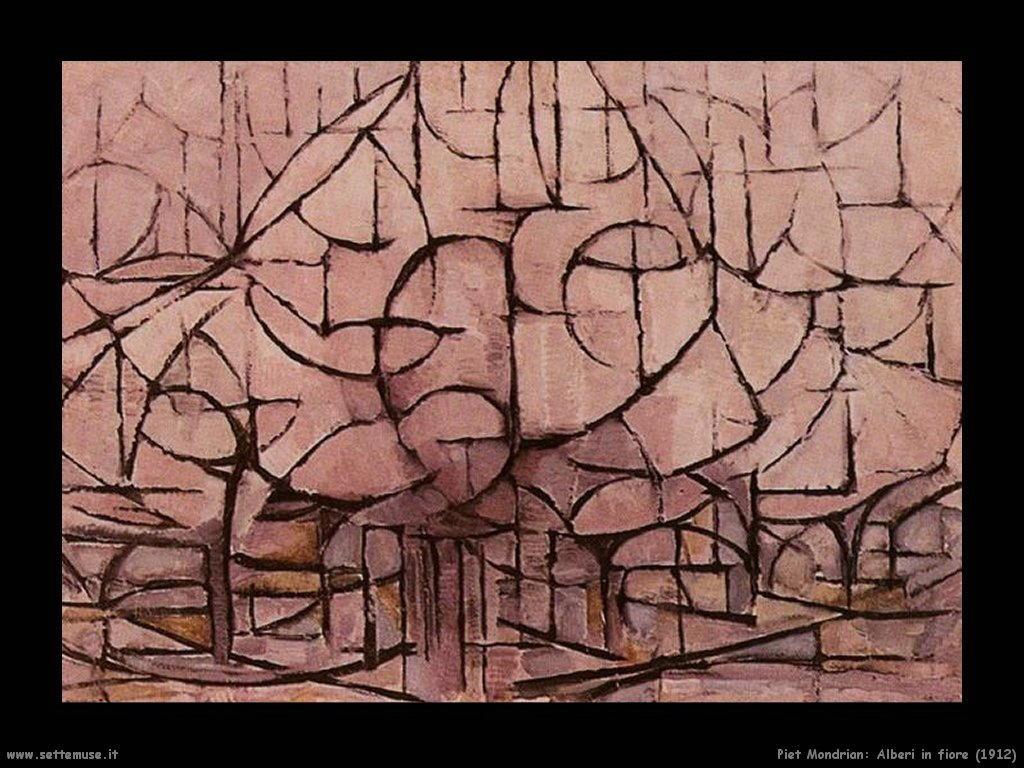 Piet Mondrian_alberi_in_fiore_1912
