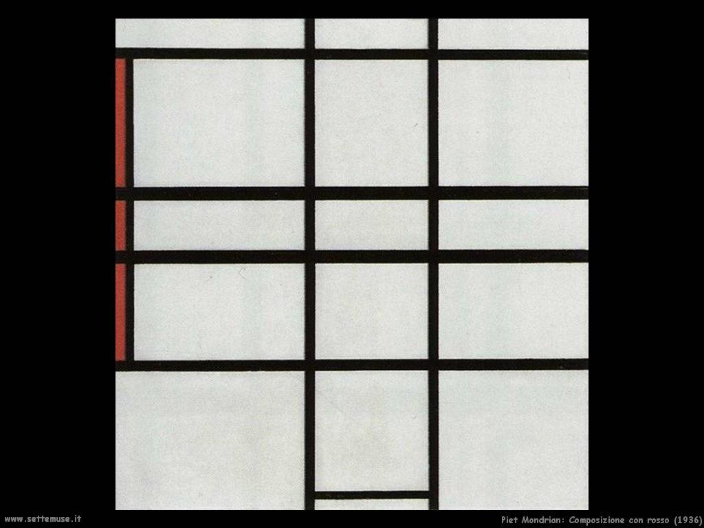 Piet Mondrian_composizione_con_rosso_1936