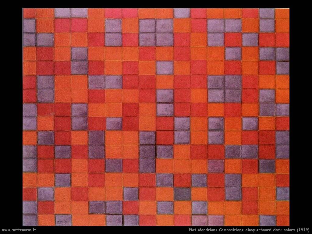 Piet Mondrian_Composizione_Chequerboard_Dark_Colors_1919