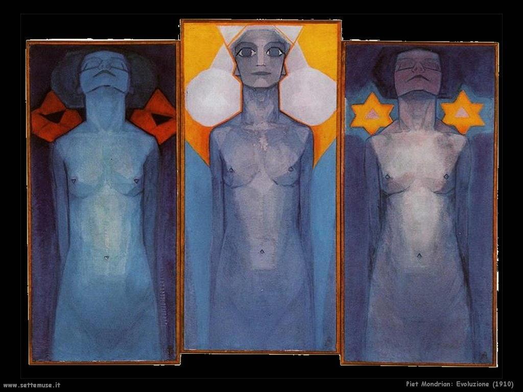 Piet Mondrian_evoluzione_1910