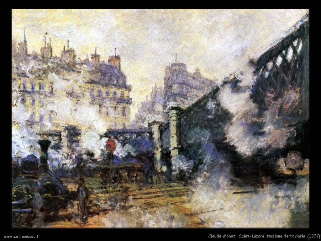 Claude Monet_saint_lazare_stazione_1877