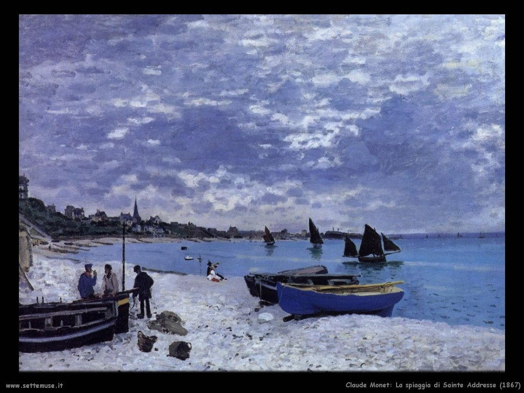 Claude Monet_spiaggia_di_sainte_addresse_1867