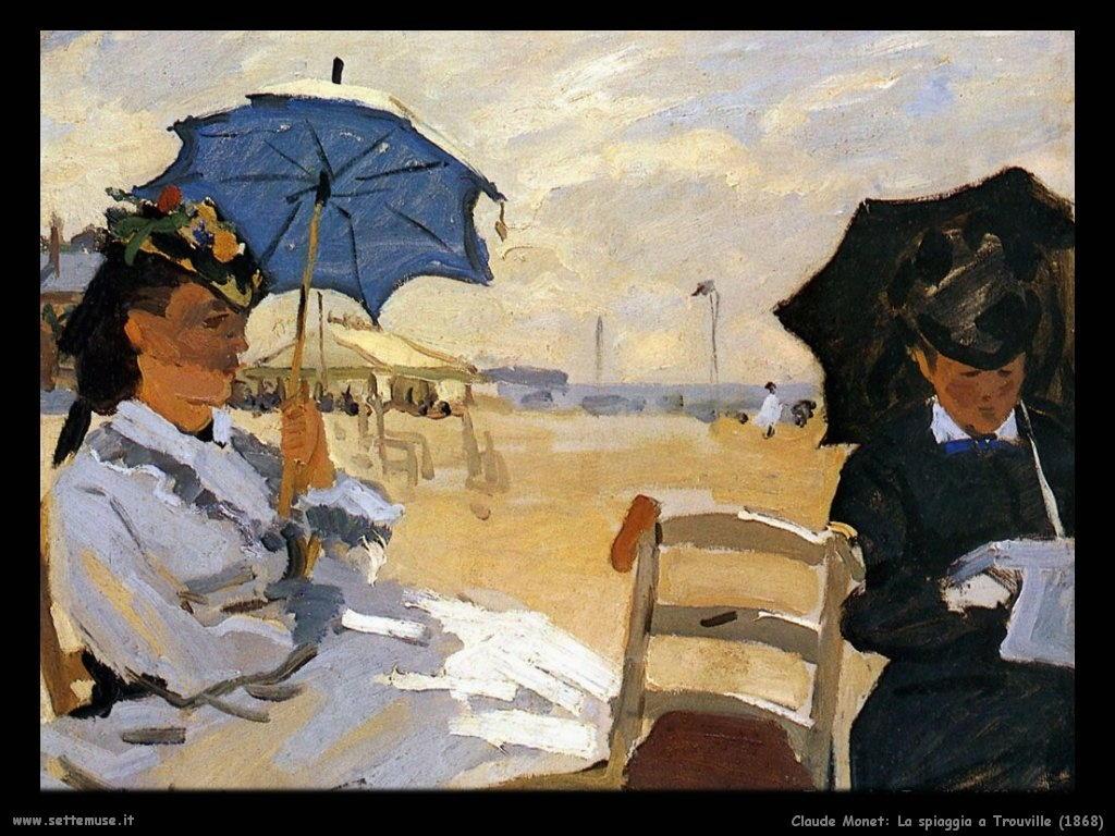 Claude Monet_spiaggia_a_trouville_1868