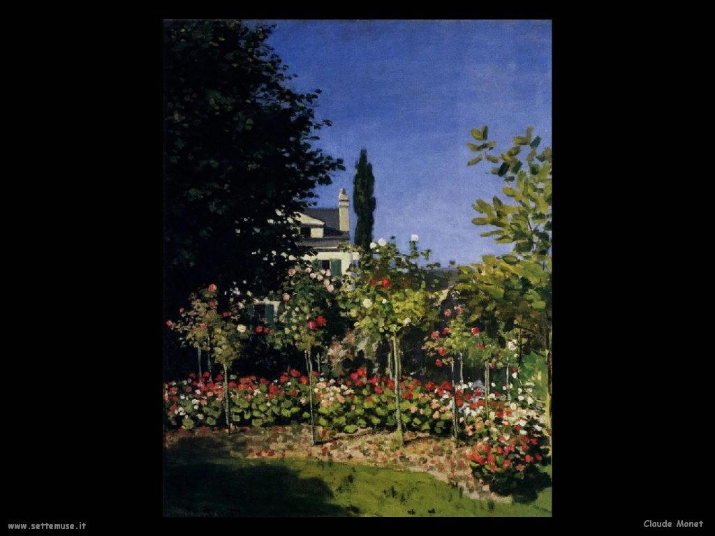 Claude Monet Giardino Fiorito a Sainte Addresse