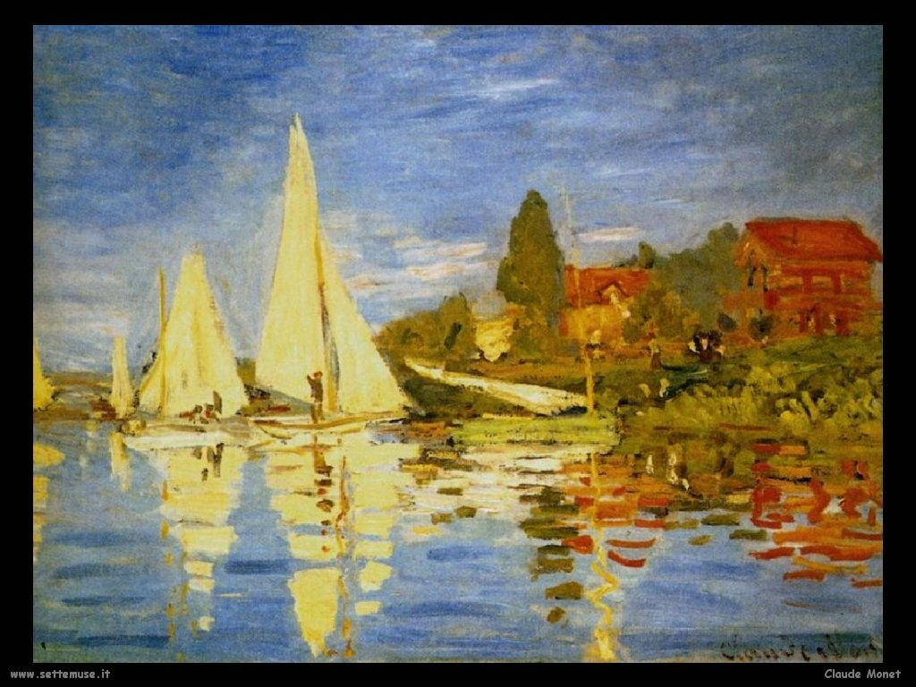 Claude Monet Regata a Argenteuil