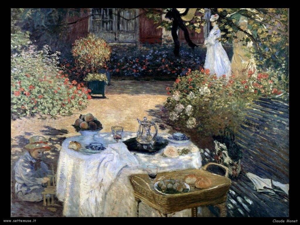 Claude Monet Colazione in Giardino