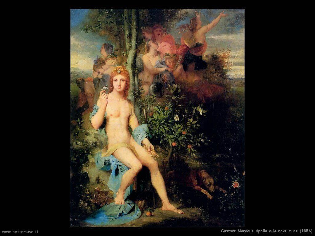 Moreau Apollo e le nove Muse