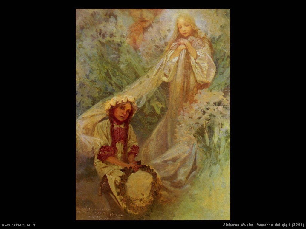 alphonse_mucha_madonna_dei_gigli_1905