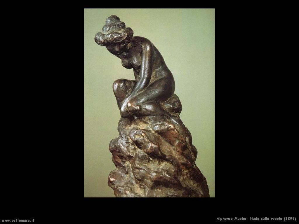 alphonse_mucha_nudo_sulla_roccia_1899