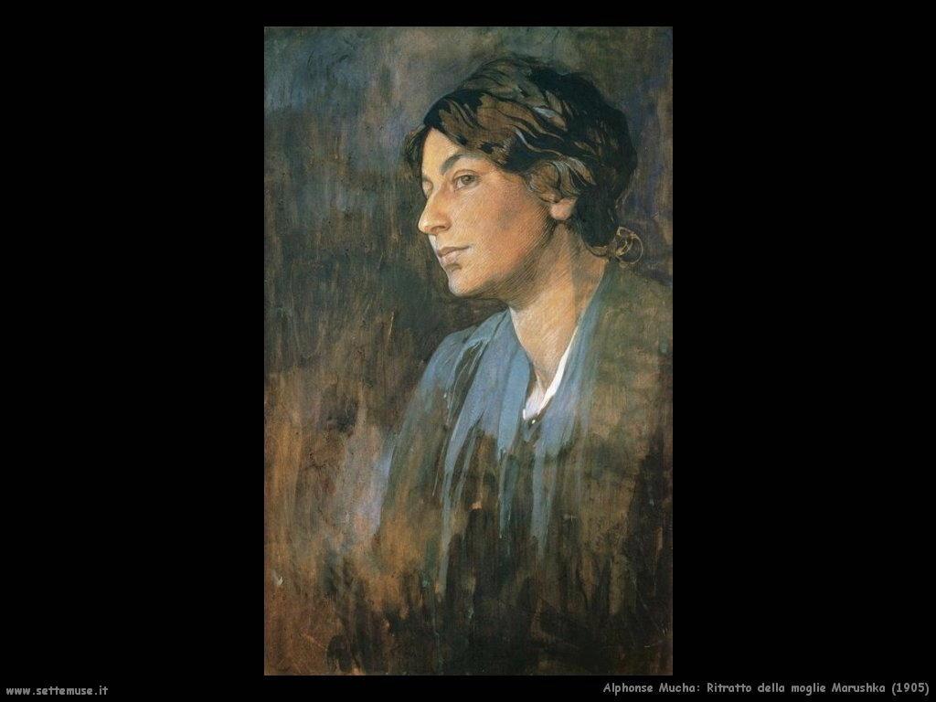 alphonse_mucha_ritratto_della_moglie_marushka_1905