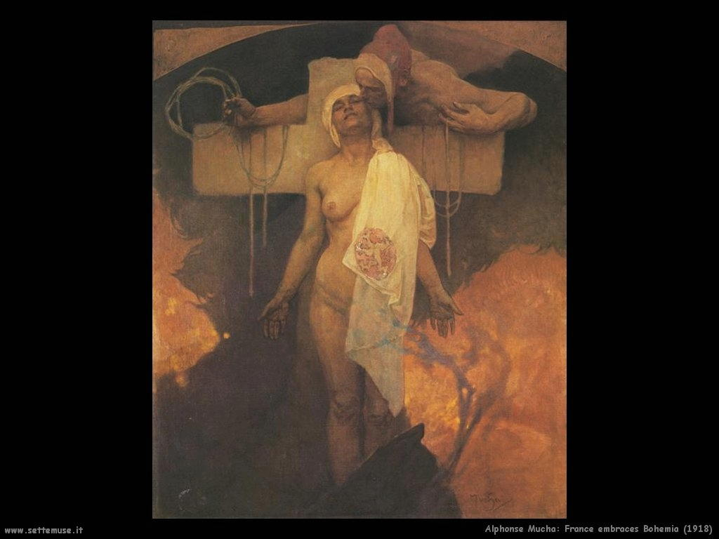 alphonse_mucha_france_embraces_bohemia_1918