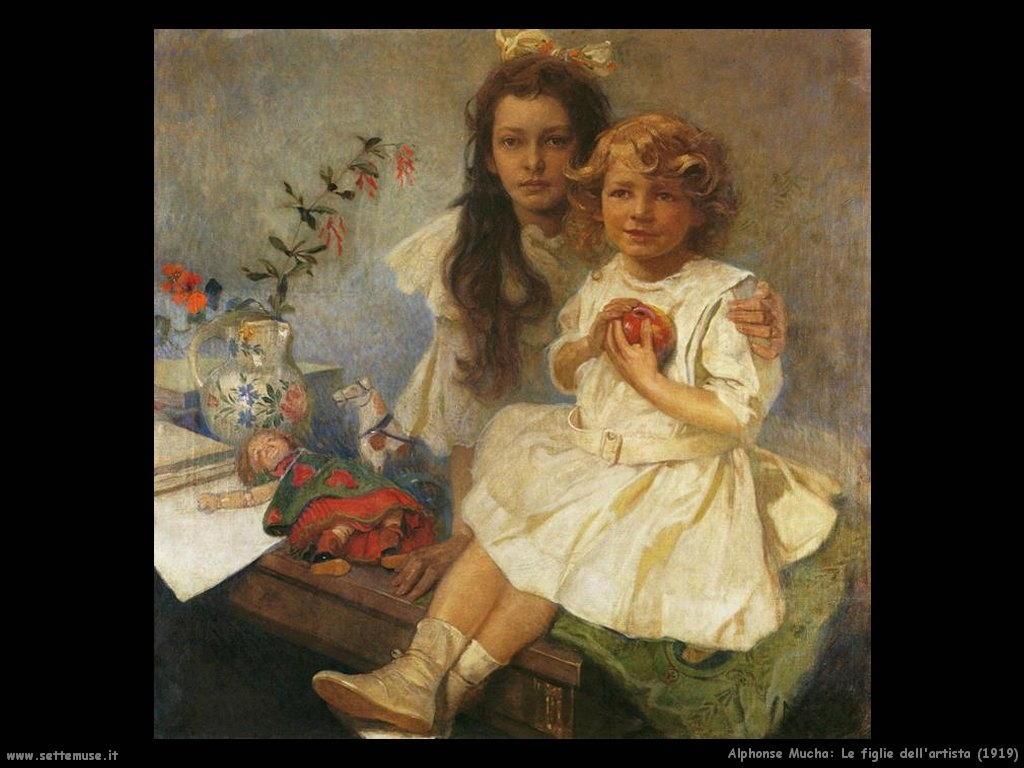 alphonse_mucha_le_figlie_dell_artista_1919