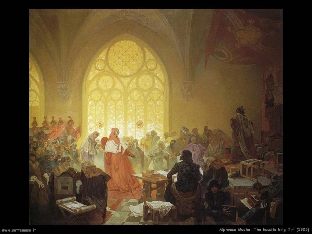 alphonse_mucha_the_hussite_king_jiri_1925