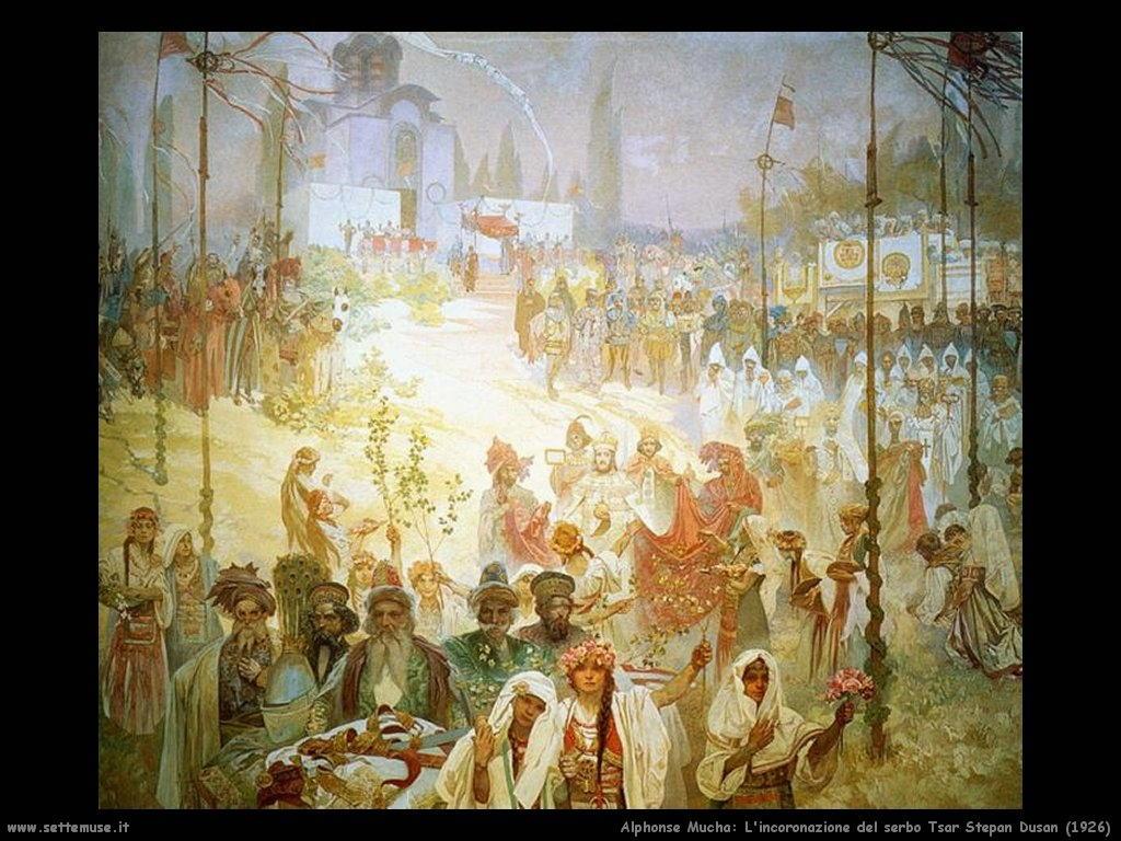 alphonse_mucha_incoronazione_del_serbo_tsar_stepan_dusan_1926